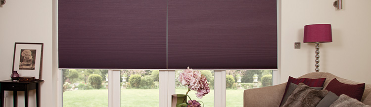 Made to measure pleated dining room blinds from Barnes Blinds in Stoke-on-Trent