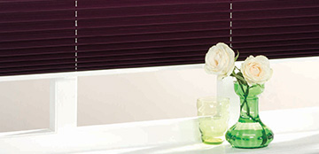 Made to measure pleated bathroom blinds from Barnes Blinds in Stoke-on-Trent