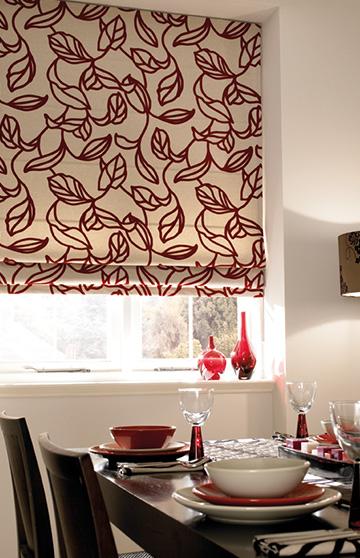 Designer roman blinds
