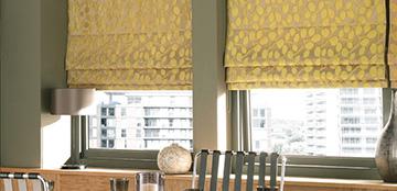 Customised roman blinds