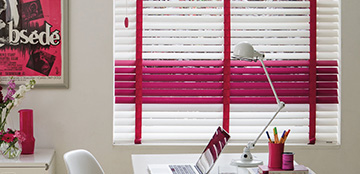 Colourful wooden blinds Barnes Blinds in Stoke-on-Trent