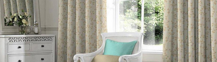Luxury curtains from Barnes Blinds in Stoke-on-Trent