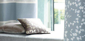 Beautiful bedroom curtains from Barnes Blinds in Stoke-on-Trent