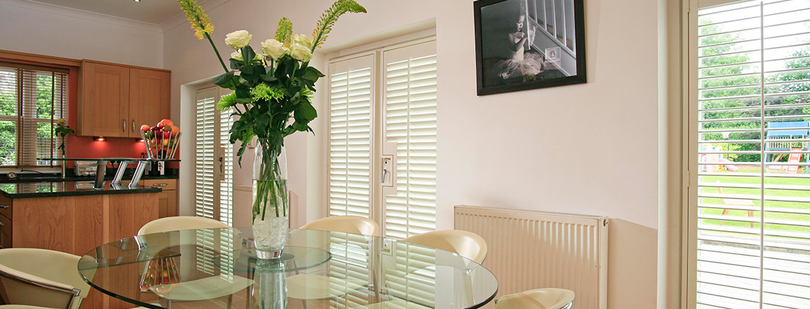 Designer shutters from Barnes Blinds in Stoke-on-Trent