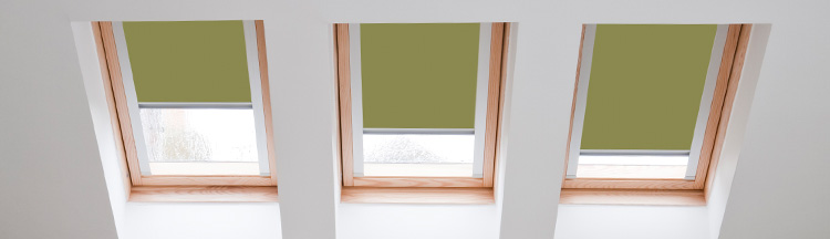 Colourful Velux blinds from Barnes Blinds in Stoke-on-Trent
