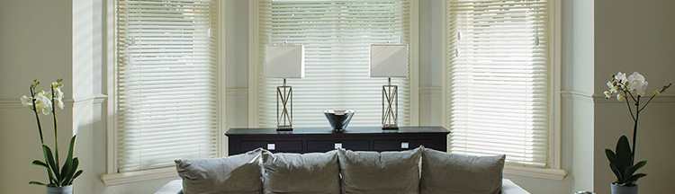 Wooden blinds for your living room at Barnes Blinds in Stoke-on-Trent