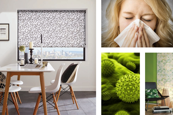 Hayfever relief from window blinds